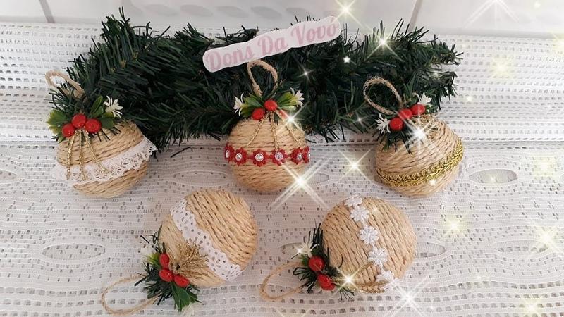 Aprenda a decorar bolas de NATAL velhas donsdavovo