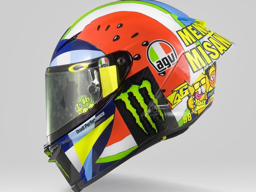 Мотошлем Валентино Росси на Гран При Мизано 2019