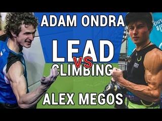 Adam Ondra vs Alex Megos Lead Climbing Technique Comparison Hachioji 2019 Chamonix 2019