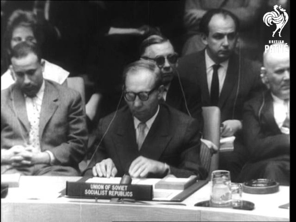 Cabot Lodge Warns Soviet On Congo Intervention 1960