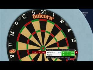 Peter Wright vs Seigo Asada (PDC World Darts Championship 2020 / Round 3)