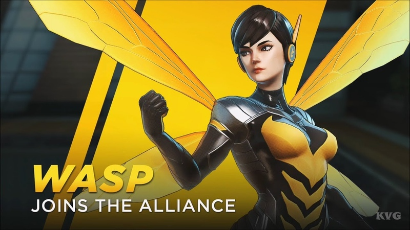 Marvel Ultimate Alliance 3 The Black Order Wasp Gameplay Nintendo Switch HD 1080p60FPS
