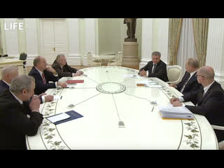 Лидеры фракций на встрече с Владимиром Путиным