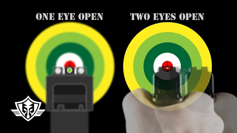 Handgun Aiming Sight Picture One Eye vs Two Eyes Front Sight Aiming vs Point Shooting