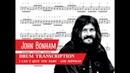 John Bonham I Can't Quit You Baby Led Zeppelin Coda Drum Transcription PDF Slow Motion