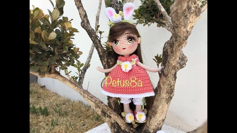 Como bordar ojos muñeca Sheila conejo amigurumis by Petus 4o. y último video.