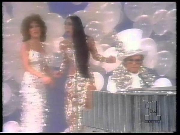 Elton John Cher Bette Midler Flip Wilson The Cher Show 1975 Final Medley