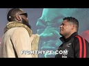 DEONTAY WILDER STARES DOWN LUIS ORTIZ WHO SIZES HIM UP AT ARRIVAL FACE OFF