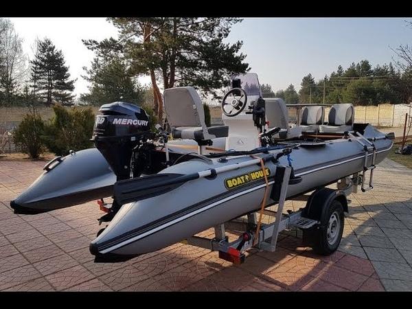 Моторная лодка катамаранного типа Sea Fisher 610 от компании Boathouse (Украина, Киев)