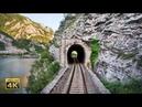 4K CABVIEW Sarajevo Capljina 99 tunnels from Continental to Mediterranean Bosnia and Herzegovina