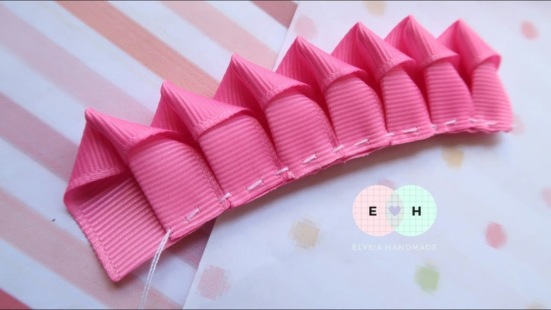 Amazing Kanzashi Flower Hand Embroidery Works Ribbon Tricks Easy Making Tutorial 33