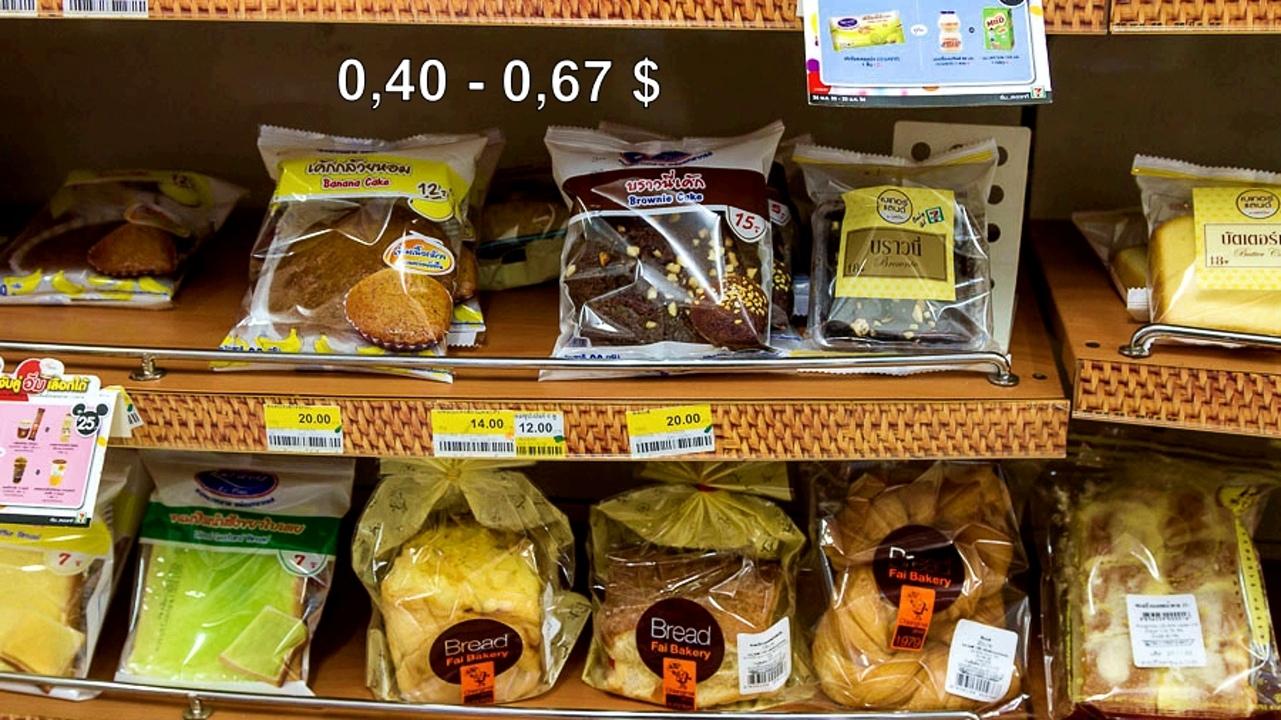 Цены на продукты и еду в Таиланде.  CVP7S26ibzY