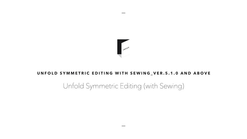 Unfold Symmetric Editing with Sewing (ver.5.1.0)