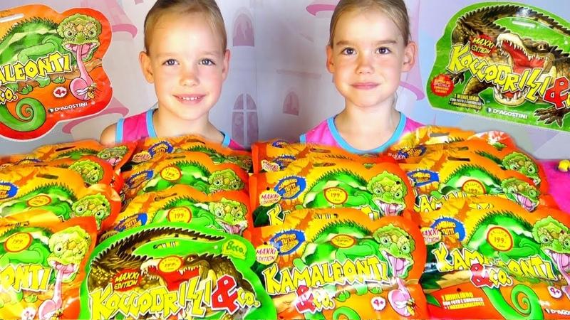 КрокодилыКо Макси против ХамелеоновКо Макси ДеАгостини Игрушки для детей