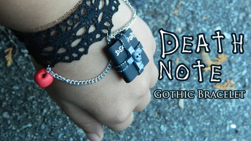 Death Note Gothic Bracelet Polymer Clay Tutorial / Arcilla Polimérica