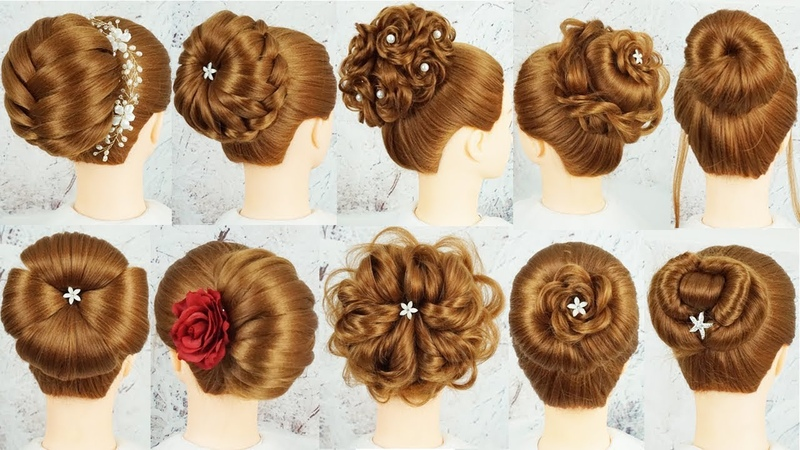 Top 10 New Bun Hairstyle With Using Clutcher - Bridal Hairstyles | Cute Hairstyles For Wedding Party