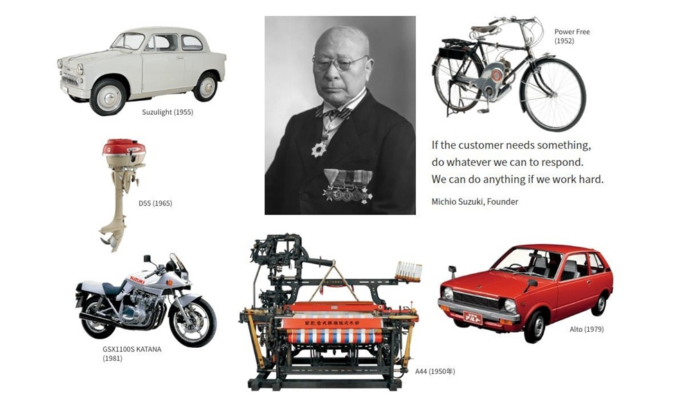 Компания Suzuki Motor Corporation празднует 100-летний юбилей