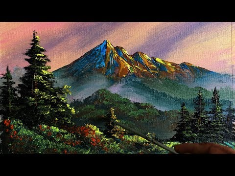 Painting a Beautiful Mountain Landscape with Acrylic | Scenery Painting | Nature Painting |Art Candy