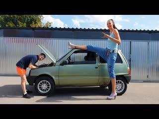 Самая высокая девушка в самой маленькой машине. реакция друзей [красавица и чудовище] (выпуск 204)