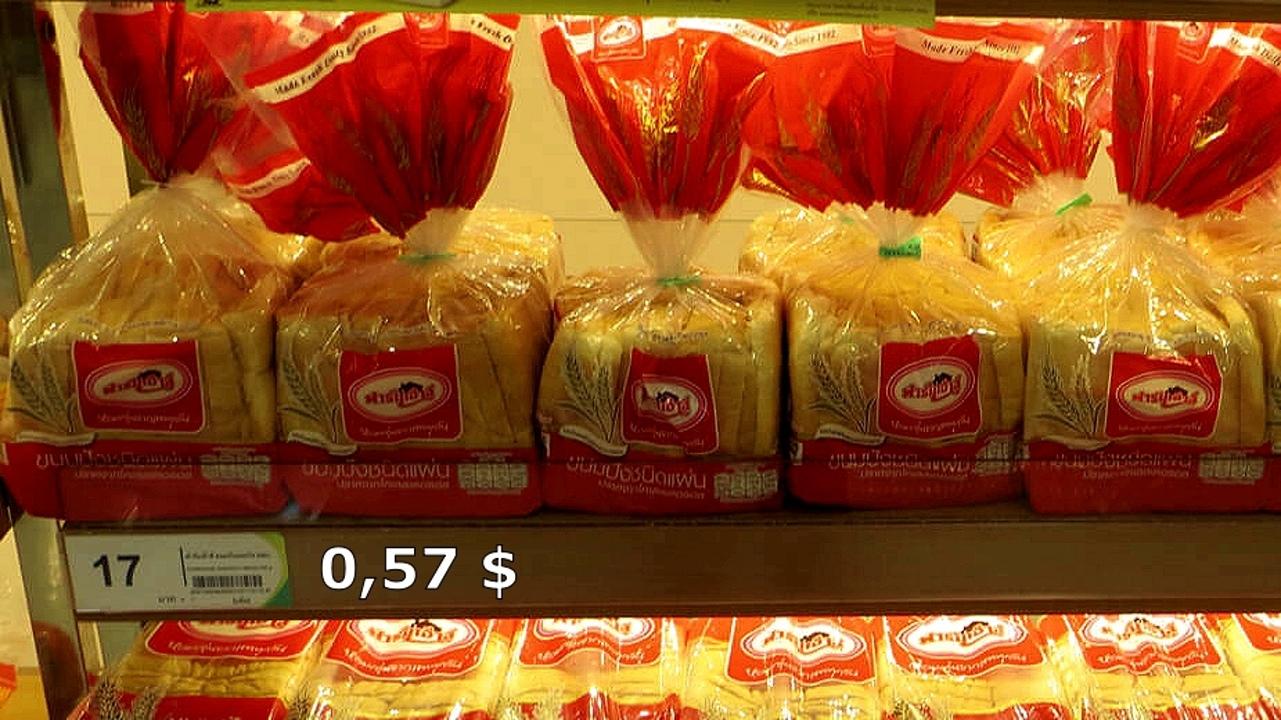 Цены на продукты и еду в Таиланде.  Kkb4h8mz4Cs