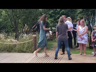 Kate leaves her @the_rhs back to nature garden and meets parents, teachers and carers