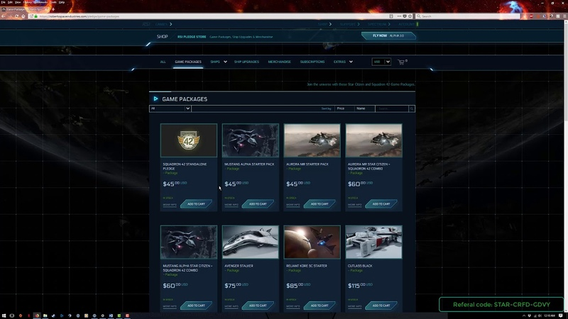 StarCitizen How to buy the game and choosing your first ship