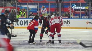 Алина Загитова произвела символическое вбрасывание на матче СКА  ЦСКА