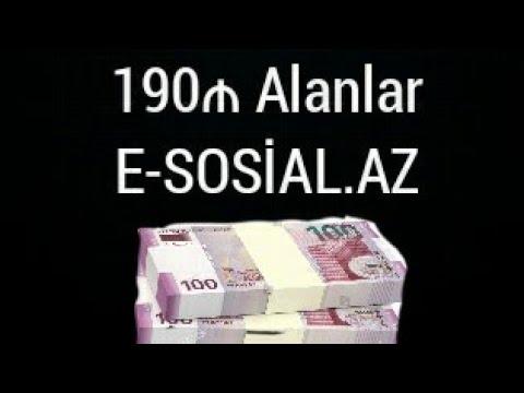 190 manat E SOSİ mesajları