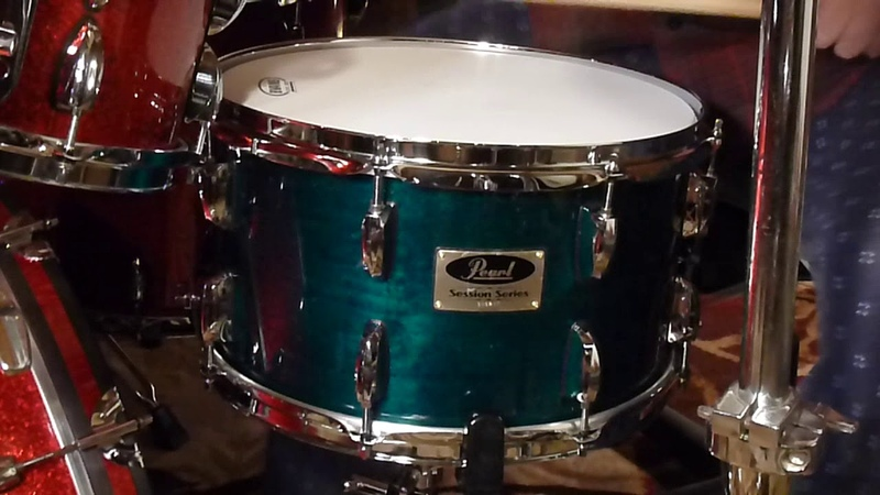 Double A drums 8x14 snare drumformer pearl session series rack tom