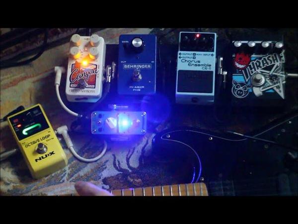 Guitar pedals Chorus Phaser Reverse Distortion
