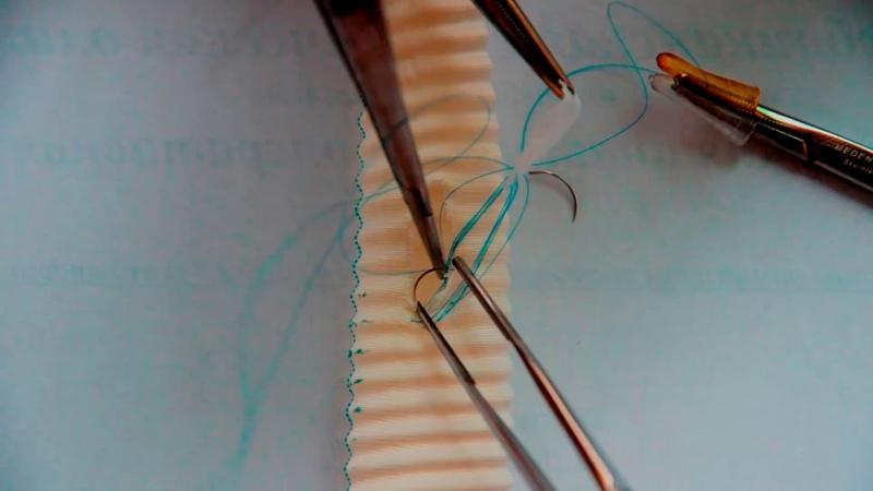 Vascular suture 4 Ставим заплату на сосуд! 1080р! (