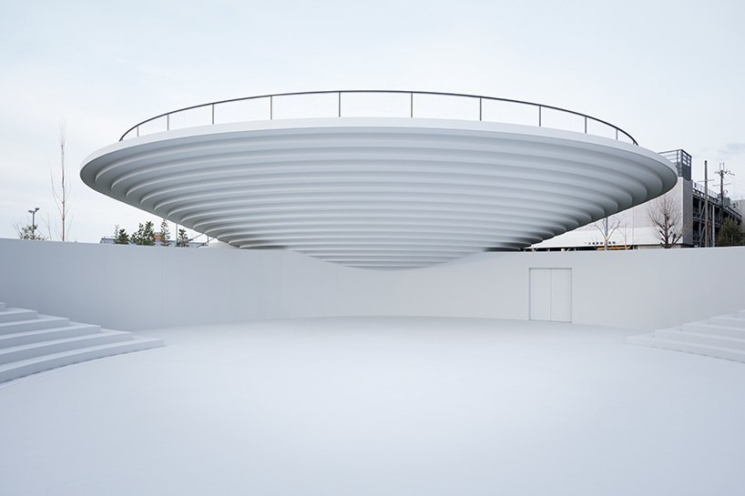 nendo has completed its first public space — a 6,000 square meter plaza named 'CoFuFun' that includes cafés, meeting spaces, and play areas