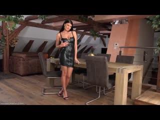 Lucy Li | 720p | porn | black leather dress | suck | fuck | anal | blowjob | masturbate | solo | high heels | dildo | latex