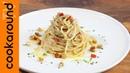 Spaghetti aglio olio noci e acciughe