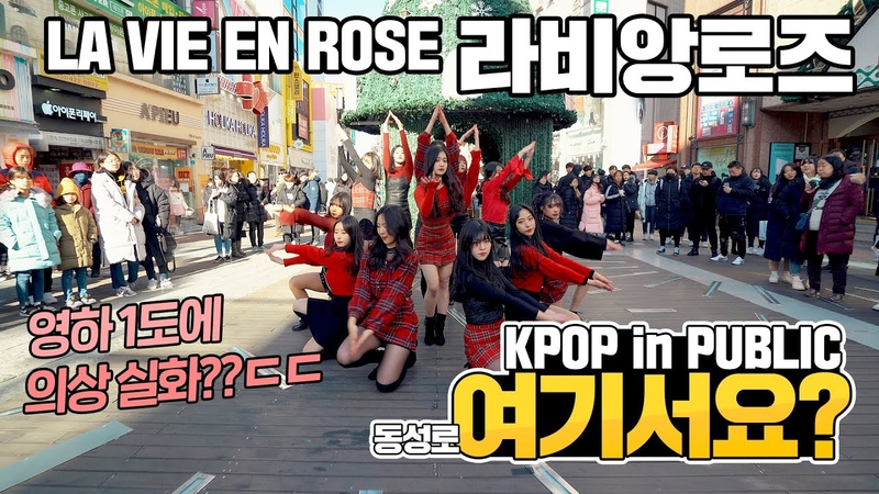[여기서요?] 아이즈원 IZ*ONE - 라비앙로즈 LA VIE EN ROSE   커버댄스 DANCE COVER   KPOP IN PUBLIC @동성로