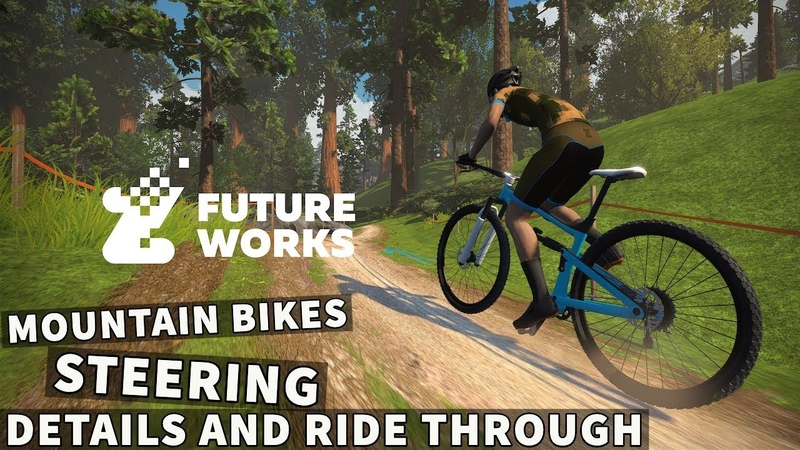 ZWIFT Mountain Bike Route and Steering: First Look Ride-Through