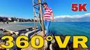 360° VR Alikes Beach Paralia Alikes Nees Pagases Visit Greece Volos Area 5K 3D Virtual Reality HD 4K