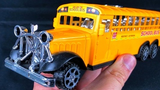Yellow school bus toy review - Kids Toys Stories