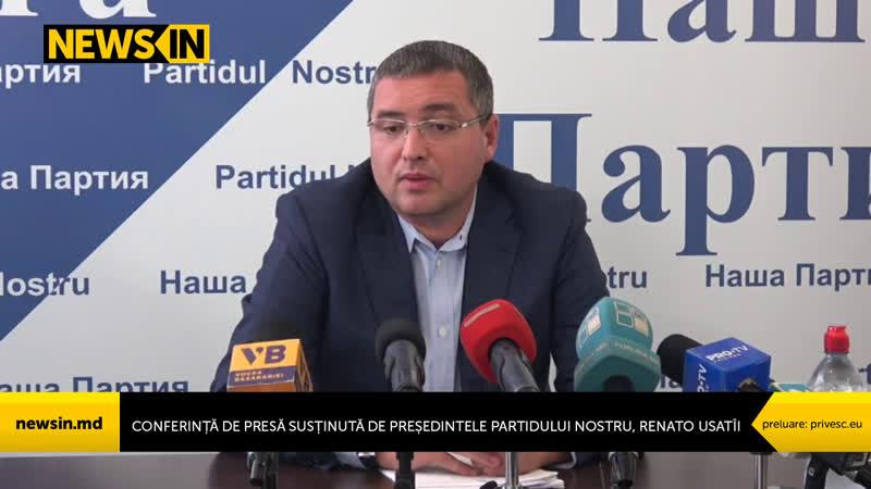 Conferință de presă susținută de președintele Partidului Nostru, Renato Usatîi
