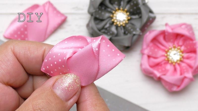 Amazing ribbon flower DIY