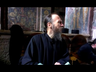 Blind Orthodox Christian monk chanting
