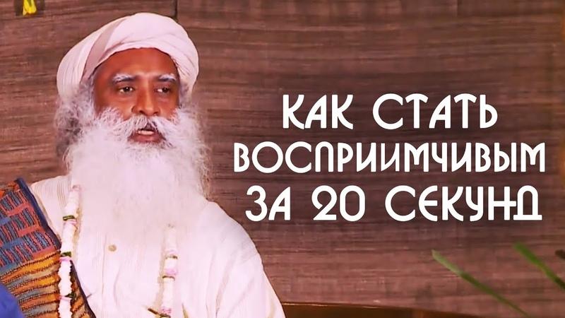 Как стать восприимчивым за 20 секунд Краткий курс счастливой жизни от Садхгуру на Русском