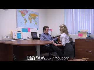Spyfam-step-son-office-anal-fuck-with-step-mom-cory-chase-at-work