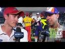 Denny Hamlin Joey Logano tussle on pit road at Martinsville NASCAR Cup Series