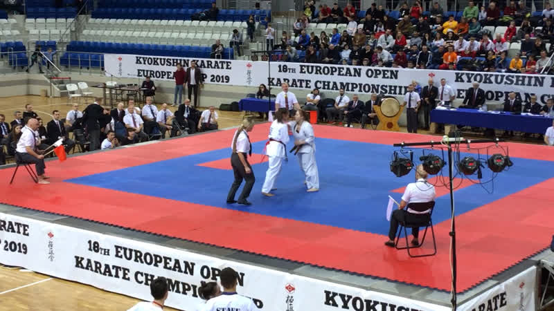 18 European Open Karate Championship. 8.12.2019, Минск. Щербакова Екатерина полуфинал
