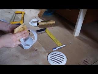 Монтаж вентиляции в туалете частного дома через стену каркасного дома.