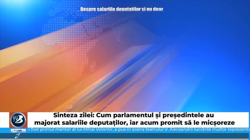 Sinteza zilei Cum parlamentul și președintele au majorat salariile deputaților, iar acum promit să le micșoreze