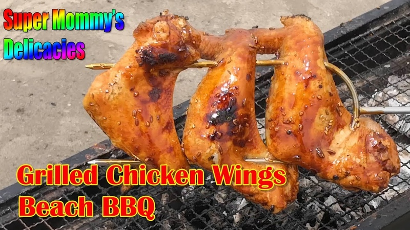 Grilled Chicken Wings With Super Honey Sauce the BEST Beach BBQ