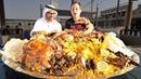 Dubai Food - RARE Camel Platter - WHOLE Camel w/ Rice Eggs - Traditional Emirati Cuisine in UAE!