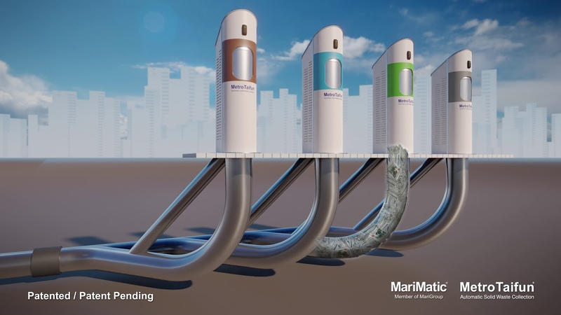 MetroTaifun the Automatic Waste Collection System AWCS for sustainable cities